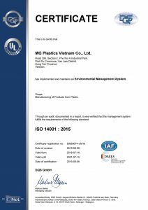 CIRTIFICATE ISO14001:2015